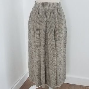 Oleg Cassini | Vintage Midi Pleated Skirt (A45)